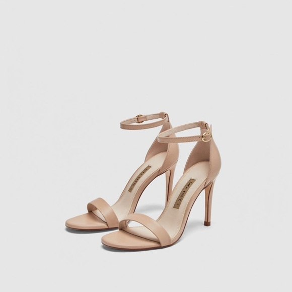 79b5340a8f20 ZARA High Heeled sandals Nude sz 8 39